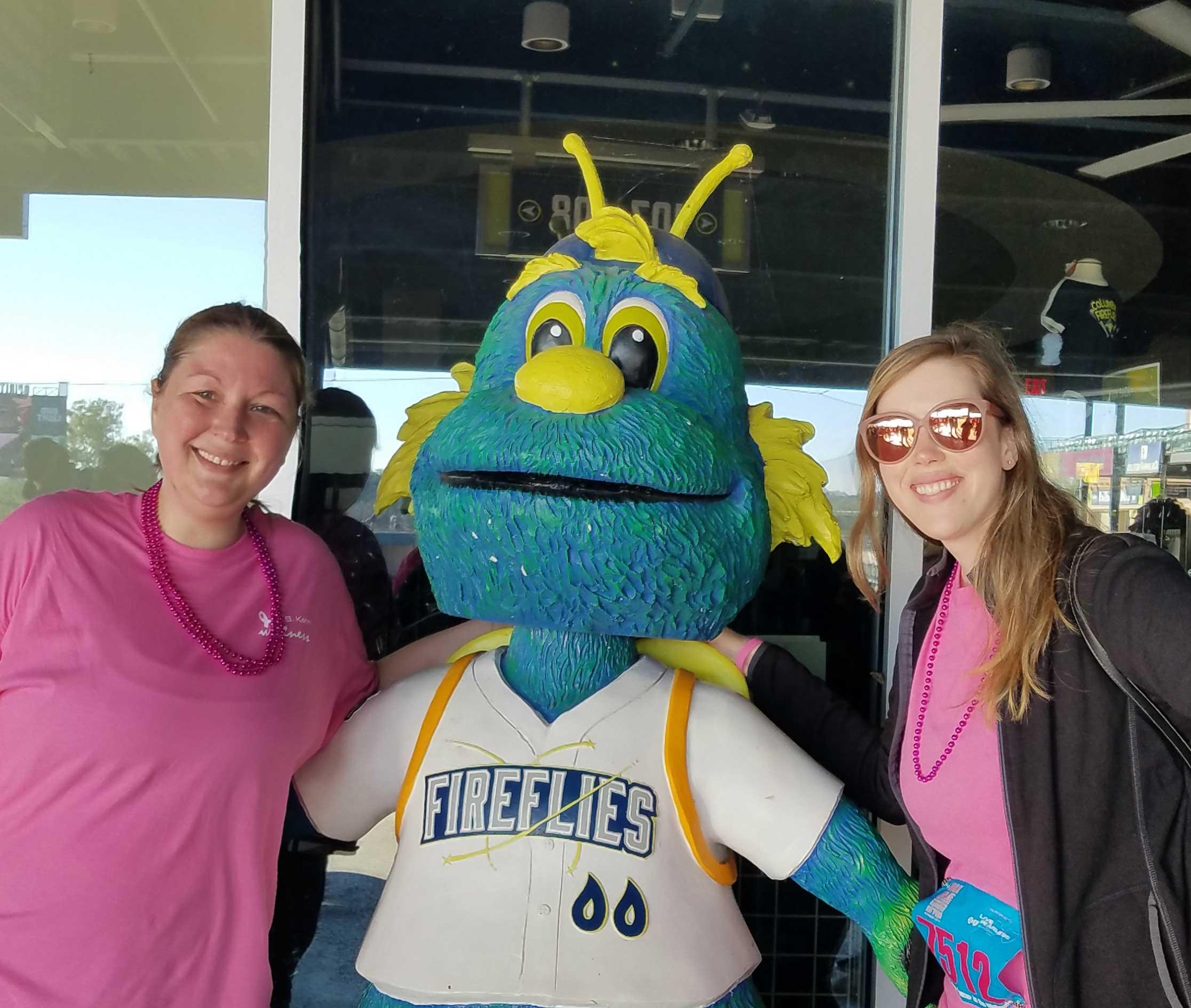Hanging out with Columbia Fireflies mascot, Mason!