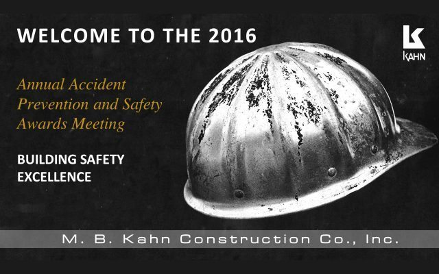 2016 Annual Safety Awards Meeting