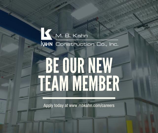 Come Work with M  B  Kahn - M  B  Kahn Construction