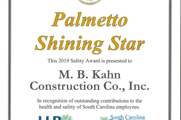 Shining Star Safety Award