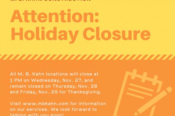 Holiday Closure Alert