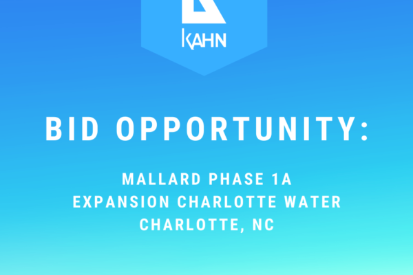 Bid Opportunity – Mallard Phase 1A Expansion, Charlotte, NC