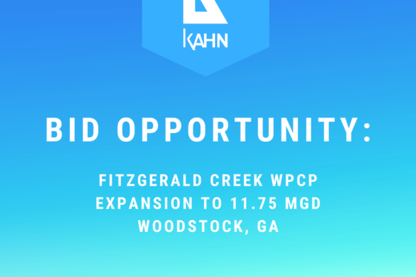 Bid Opportunity – Fitzgerald Creek WPCP Expansion to 11.75 MGD – Woodstock, GA