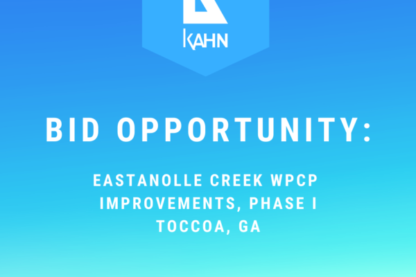Bid Opportunity – Eastanolle Creek WPCP Improvements, Phase I, City of Toccoa, GA
