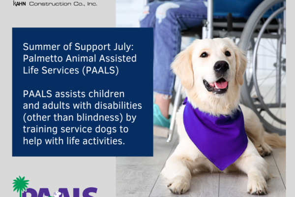 Summer of Support Helps Service Dogs